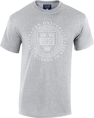 Oxford University Official Distressed Crest T-Shirt - Sport Grey - Large