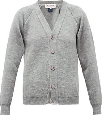 Comme Des Garçons Comme Des Garçons Girl - V-neck Raglan-sleeve Cardigan - Womens - Grey