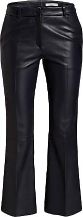 AKTUELL Damen Hose Stoffhose Lederoptik Bikerhose Motorradhose Skinny S XL
