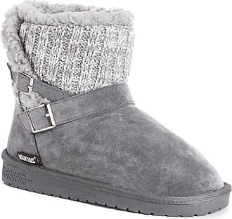 New Bearpaw COLBY WINTER WHITE  Neverwet  Suede /& Knit Lace Up Detail Boot   7 M