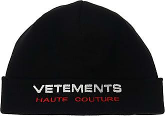VETEMENTS Hat With Logo Mens Black