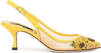 Dolce & Gabbana Sapato com bordado de girassol - Amarelo