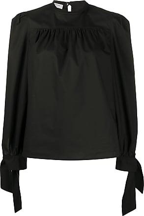 Philosophy di Lorenzo Serafini tie-cuffs round-neck blouse - Black