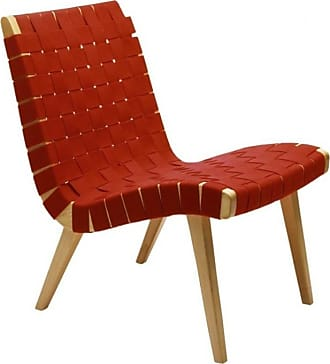 Knoll Risom Lounge Chair - baumwolle rot