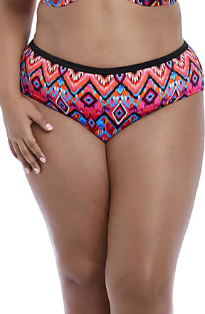 Elomi Womens Tribe Vibe Mid-Rise Swim Brief, 20, Flame