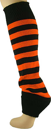 MySocks Leg Warmers Striped Orange Black