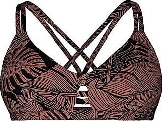 2ac1591d4298b Hurley Womens Quick Dry Max Compression Printed Triangle Bikini Surf Top,  Terra Blush, M