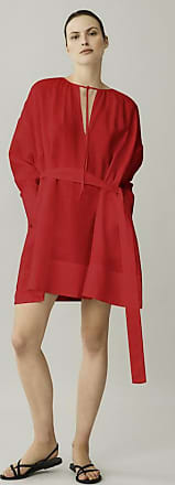 Asceno Santorini Poppy Red Short Linen Dress