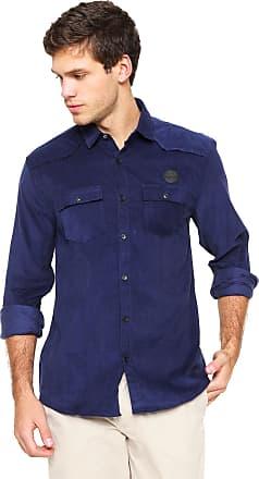 Calvin Klein Jeans Camisa Calvin Klein Jeans Veludo Logo Azul 74333a8a1f