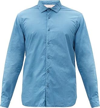 Orlebar Brown Giles Cotton-poplin Shirt - Mens - Blue