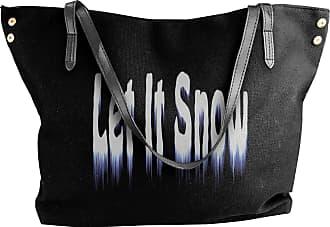 Juju Let It Snow For Chrismas Day Womens Classic Shoulder Portable Big Tote Handbag Work Canvas Bags