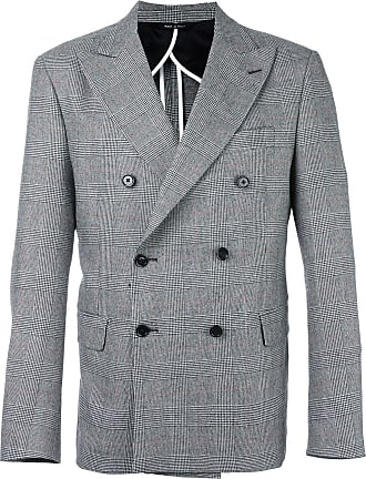 Lc23 glen plaid double-breasted blazer - Cinza