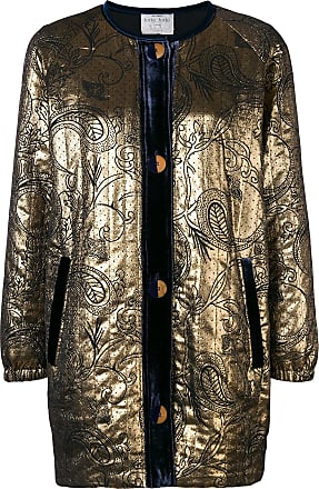 Forte_Forte embroidered fitted jacket - Metallic