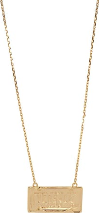 Versace Necklace With Logo Womens Gold