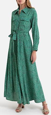 LA BRAND BOUTIQUE COLLECTION Langes Kleid PAULINE, lange Ärmel, geknöpft - GRÜN - LA BRAND BOUTIQUE COLLECTION