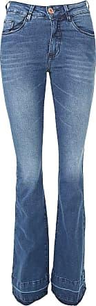 Malwee Calça Jeans Malwee Flare Estonada Azul