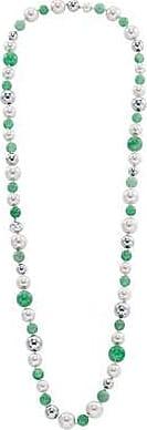 Misaki Collier sautoir Sweet vert de perles