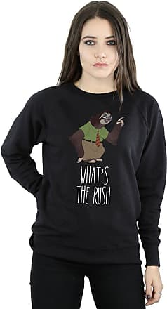 Disney Womens Zootropolis Whats The Rush Sweatshirt Medium Black