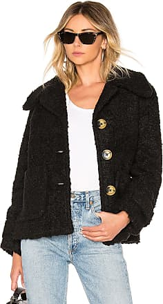 Free People So Soft Cozy Peacoat in Black