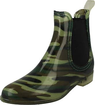 Spot On Ladies Ankle Wellington Boots - Camouflage Synthetic - UK Size 4 - EU Size 37 - US Size 6
