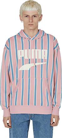Puma Puma Downtown stripe hooded sweatshirt BRIDAL ROSE-AOP XL