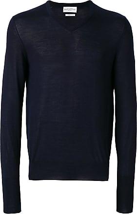 Ballantyne Suéter gola V slim - Azul