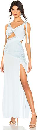For Love & Lemons Antoinette Maxi Dress in Baby Blue