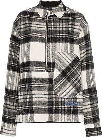 We11done Camisa com estampa xadrez - Cinza