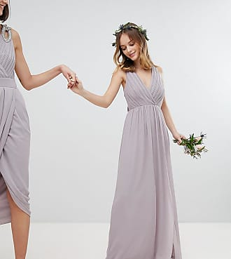 4d0cde475acc Tfnc Petite Pleated Maxi Bridesmaid Dress With Back Detail