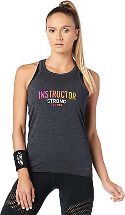 Zumba Squat sync sweat instructor seamless tank bold black L