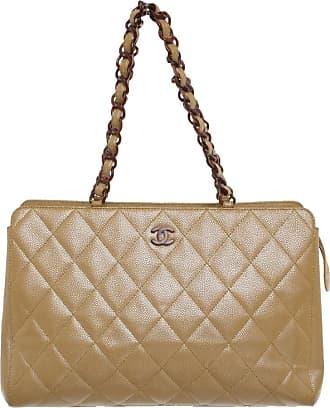 ac0c3a01bd15c Chanel gebraucht - Handtasche aus Leder in Beige - Damen - Leder