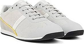 BOSS Sneakers aus Mesh mit Veloursleder-Details