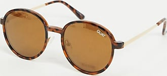 Quay I See You round glasses in tort with clip on lens-Brown