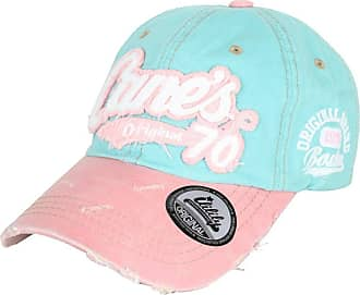 Ililily Distressed Vintage Pre-Curved Cotton Embroidered Logo Baseball Cap with Adjustable Strap Snapback Trucker Hat - 507-1 Blue