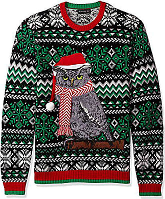 Blizzard Bay Mens Festive Owl Ugly Christmas Sweater, XX-Large