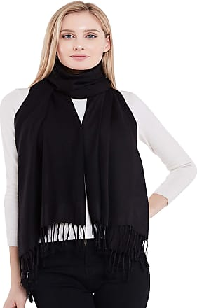 CJ Apparel Black Solid Colour Design Nepalese Shawl Seconds Scarf Wrap Stole Throw Pashmina NEW