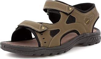 Urban Jacks Mens Brown Easy Fasten Sandal - Size 9.5 UK - Brown