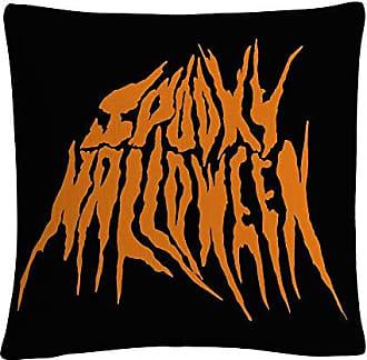 Trademark Fine Art Orange Spooky Metal Halloween by ABC