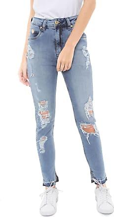 4d22a8759 Triton Calça Jeans Triton Skinny Cropped Super High Cigarrete Azul