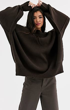 Free People Easy Street oversized sweatshirt-Brown