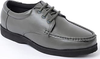 Chums Mens Leather Lightweight Laceup Shoe Grey 8 UK