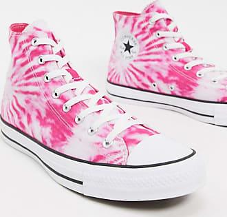 Converse Chuck Taylor All Star - Hohe Sneaker in Batik-Optik in Rosa und Violett