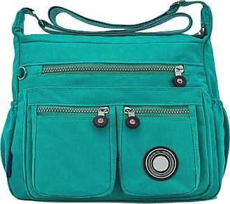 GFM Womens Nylon Waterproof Cross Body Shoulder Bag (S1-171-HLTL)