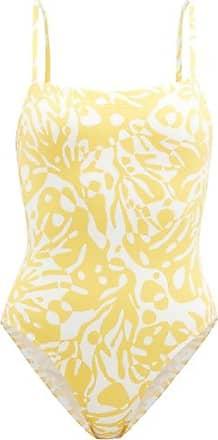 Eres Mantaray Coralsand-print Swimsuit - Womens - Yellow White