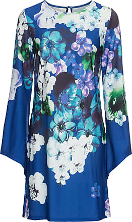 BODYFLIRT boutique Dam Blommönstrad klänning i blå lång ärm - BODYFLIRT  boutique deafb3d68ed6b