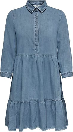 Only Womens Onlenya Life 3/4 Sleeve DNM Dress Noos Casual, Medium Blue Denim, 38