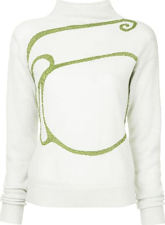 Onefifteen embroidered knit sweater - White