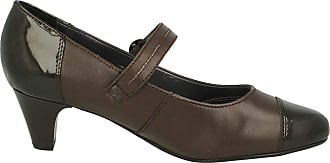 Padders Jean Womens Mary Jane Style Court Shoes 5.5 Brown Combi