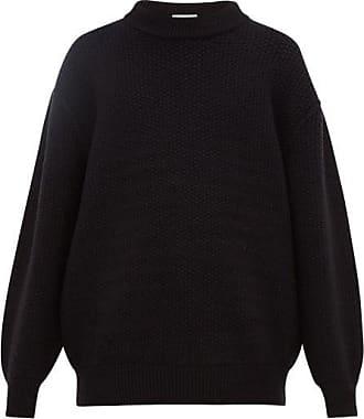Raey Slip-stitch Wool-blend Sweater - Mens - Black