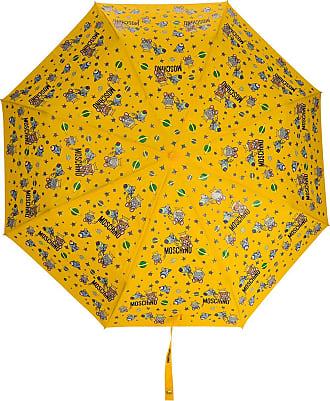 Moschino space-themed logo-print umbrella - Yellow